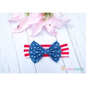 Other - Girls 4th Of July Headband Bow Head Accessories